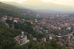 Prizren with Savior church at Stock Image