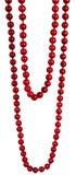 pärlor som hänger red Arkivfoton