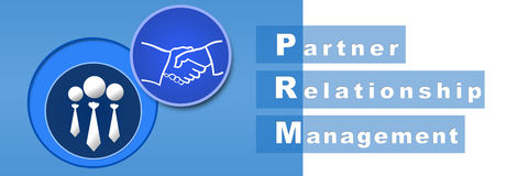 PRM - Partner Relationship Management Banner Royalty Free Stock Images