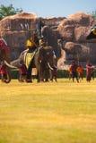 Príncipe Burmese Waiting Batalha Elefante Foto de Stock Royalty Free
