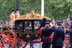 Príncipe Charles & Camilla no casamento real 2011 Foto de Stock