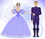 Príncipe e princesa Imagem de Stock Royalty Free