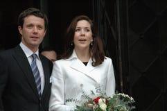 Príncipe Frederik e Mary de Denish Fotografia de Stock Royalty Free