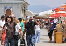 Príncipe Islands Tourists Fotos de archivo