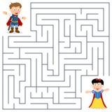Príncipe & princesa Maze para crianças Imagens de Stock