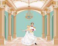 Príncipe y princesa Fotografía de archivo