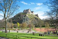 Príncipes Rua Jardim Edimburgo Imagem de Stock