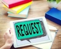 Prośby wymagania pragnienia rozkazu żądania pojęcie zdjęcia royalty free