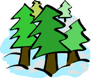 prości drzewa Obrazy Royalty Free