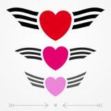 Prości graficzni miłość emblematy Fotografia Stock