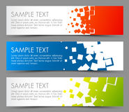 Prości kolorowi horyzontalni sztandary Obraz Stock