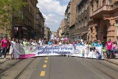 Pro марш жизни в Загребе, Хорватии Стоковое Изображение