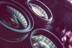 Pro объективы фотографии Стоковые Изображения RF