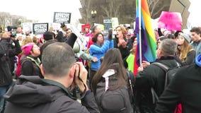 Pro Abortion Versus Anti Abortion stock footage