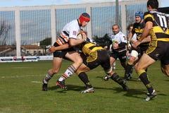 Pro allumette RCNM du rugby D2 contre Sc Albi Images libres de droits