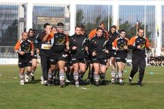 Pro allumette RCNM du rugby D2 contre Sc Albi Photo libre de droits