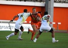 Pro allumette RCNM du rugby D2 contre Stade Montois Photographie stock
