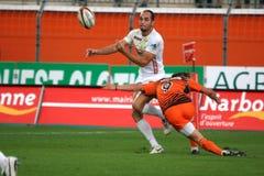 Pro allumette RCNM du rugby D2 contre Stade Montois Images libres de droits
