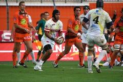Pro allumette RCNM du rugby D2 contre Stade Montois Photos libres de droits