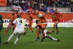 Pro allumette RCNM du rugby D2 contre Stade Montois Photo stock