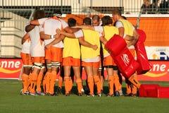 Pro allumette RCNM du rugby D2 contre Stade Montois Image stock