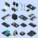 Pro audio icone dell'ingranaggio Fotografie Stock