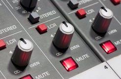 Pro audio mixing board. At a recording studio Royalty Free Stock Photos
