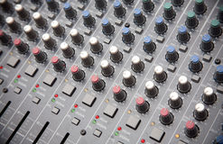 Pro audio mixing board Stock Photo