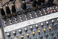 Pro audio mixing board Royalty Free Stock Photography