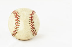 Pro baseball. That has been will used on white Stock Image