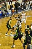 pro basketmatch Royaltyfri Foto