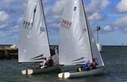 Pro bateaux de course de régate Image stock