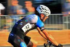 Pro Bicycling on road race Stock Images