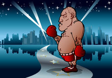 Pro boxer. Illustration of a boxer ready to fight in boxing championship Stock Photo