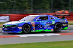 Pro Chevrolet Camaro race car on the course Stock Image