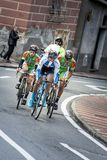 Pro ciclista em Milão Sanremo fotografia de stock royalty free