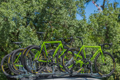 Pro Cirkelend Team Bikes Royalty-vrije Stock Foto