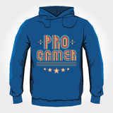 Pro conception d'impression de Hoodie de vecteur de Gamer Image stock