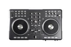 Pro contrôleur du DJ d'isolement sur le fond blanc image libre de droits