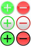 Pro and contra. Round icons on the white background Royalty Free Stock Photography
