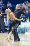 Pro-Am Couple of Ivan Miskevich and Svetlana Rodina Performs Pro-Am Super Cup International Latin Program Stock Images