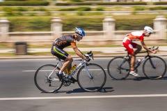 Pro Cyclist on race Stock Image