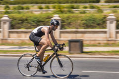 Pro Cyclist on race Royalty Free Stock Photography