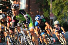 Pro Cyclist racing event Stock Photos