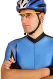 Pro cycliste confiant Photographie stock libre de droits