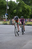 Pro Cyclists Battle at Uptown Criterium Royalty Free Stock Photo