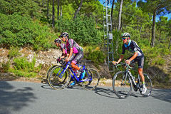 Pro Cyclists La Vuelta Royalty Free Stock Images