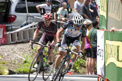 Pro Cyclists Lead Pack at Stillwater Stock Photo