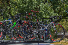 Pro-cykla Team Bikes Arkivbilder