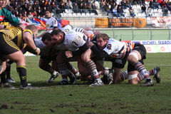 Pro D2 rugby match RCNM vs SC Albi Royalty Free Stock Photography